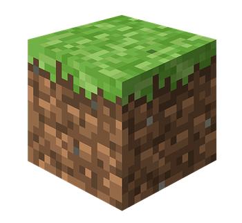 Ein Minecraft Block.