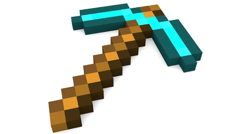 Eine Spitzhacke aus dem Spiel Minecraft.