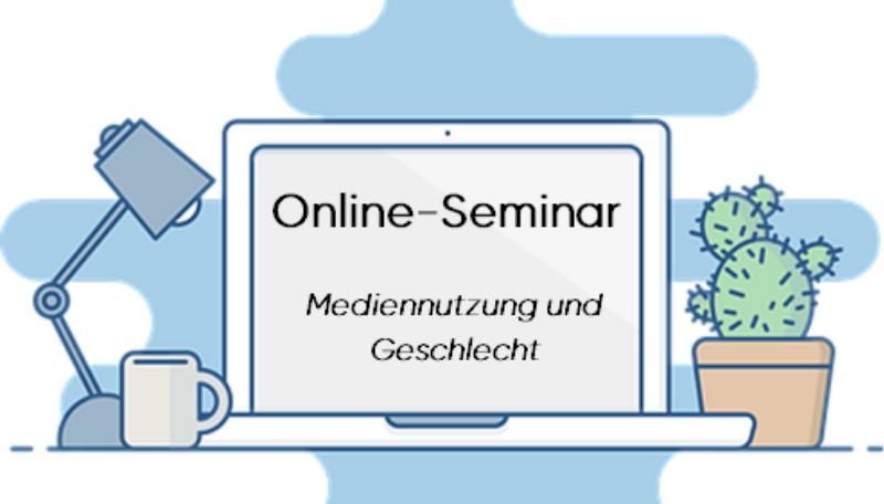 """Titelfolie zum Online-Seminar """"Mediennutzung und Geschlecht""""."""