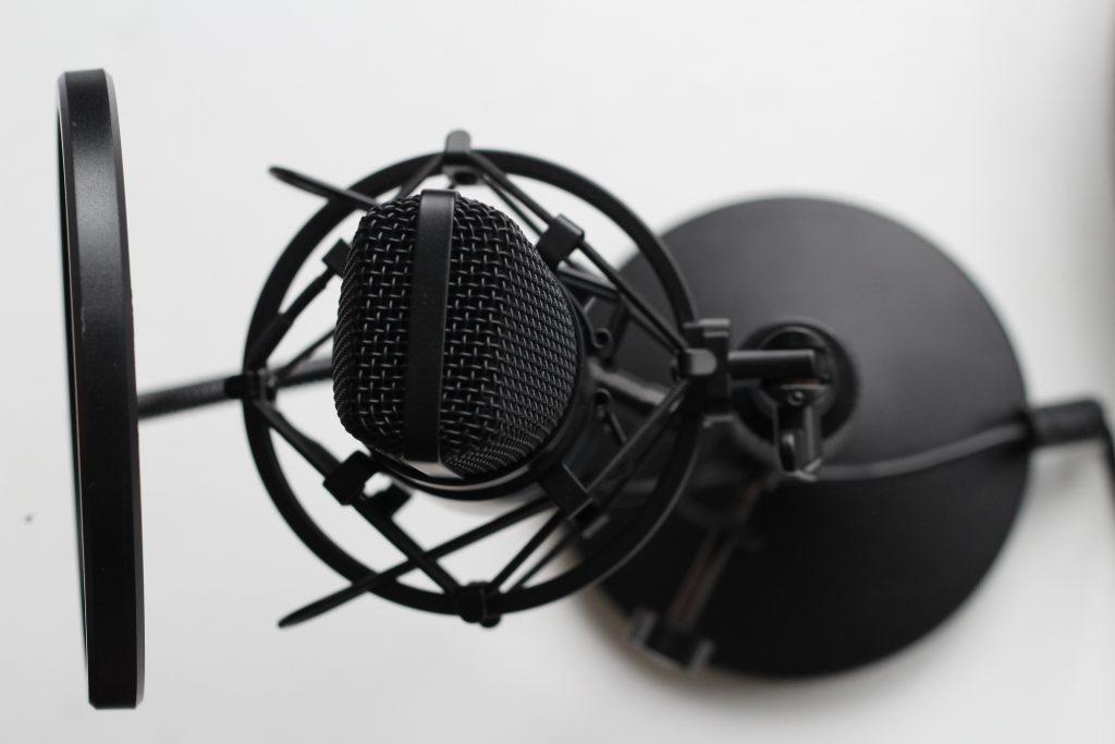 Ein Studiomikrofon.