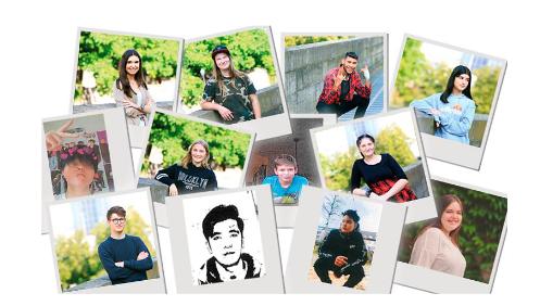 Portraits von verschiedenen Jugendlichen.