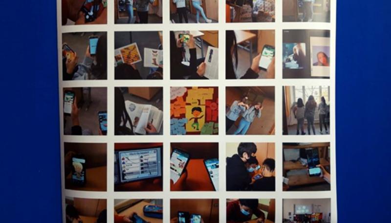 Collage der Ergebnisse des Fotoworkshops.