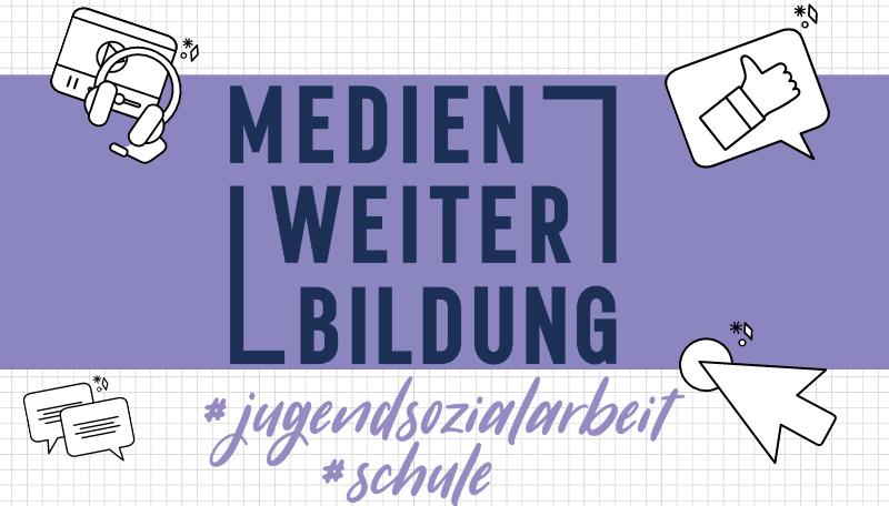 Titelfolie zum Blended-Learning-Kurs: Medien Weiter Bildung #jugendsozialarbeit #schule.