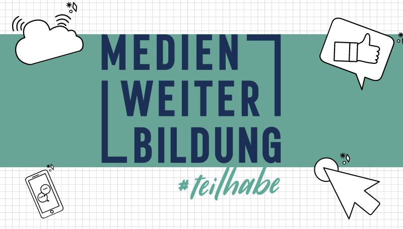 Titelfolie zum Blended-Learning-Kurs: Medien_Weiter_Bildung #teilhabe.