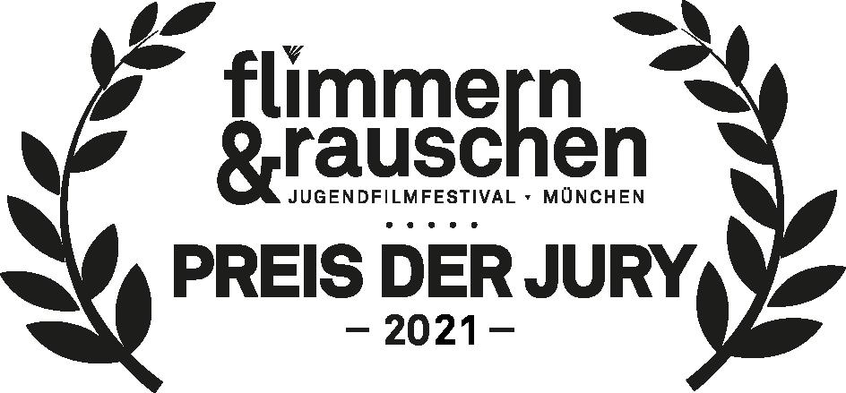 Logo: flimmern&rauschen - Preis der Jury 2021.